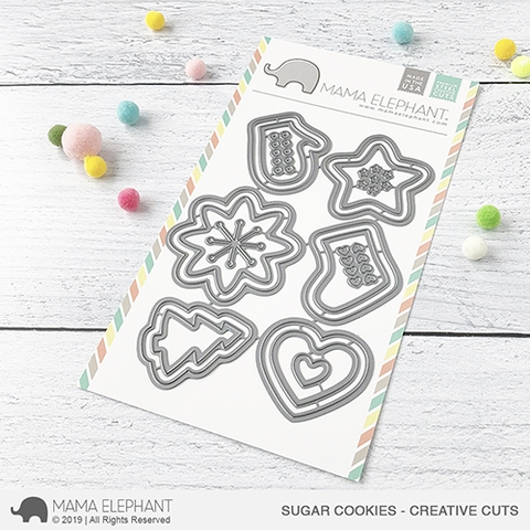 Mama Elephant SUGAR COOKIES Creative Cuts Steel Dies zoom image