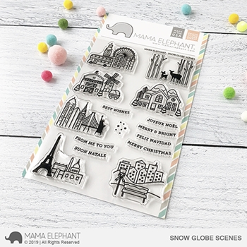 Mama Elephant Clear Stamps SNOW GLOBE SCENES