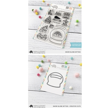 Mama Elephant Clear Stamp and Die MEPT706 Snow Globe Bitties SET