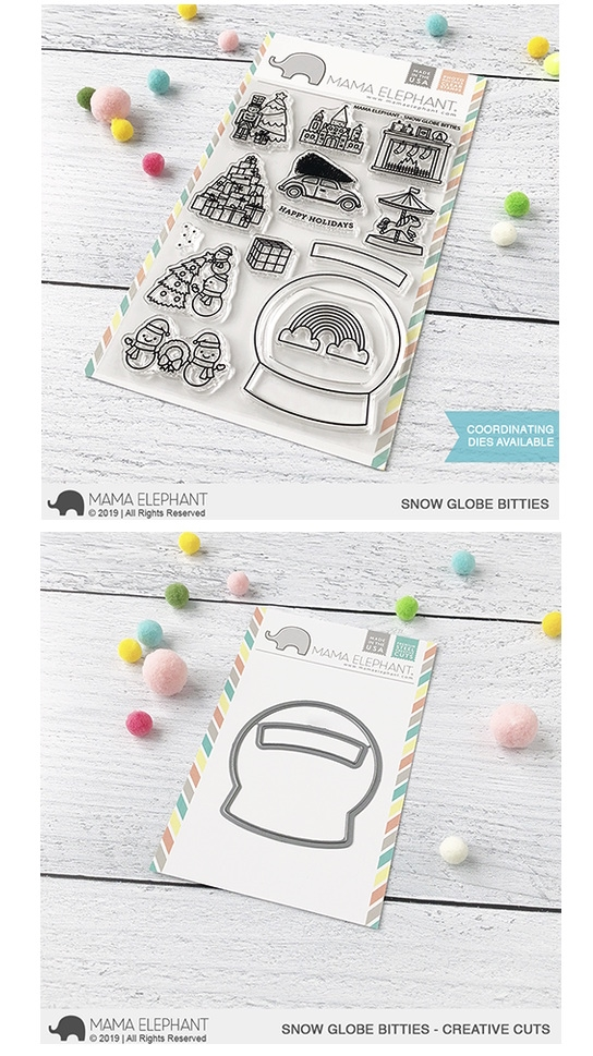 Mama Elephant Clear Stamp and Die MEPT706 Snow Globe Bitties SET zoom image