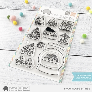 Mama Elephant Clear Stamps SNOW GLOBE BITTIES