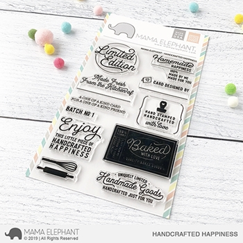 Mama Elephant Clear Stamps HANDCRAFTED HAPPINESS