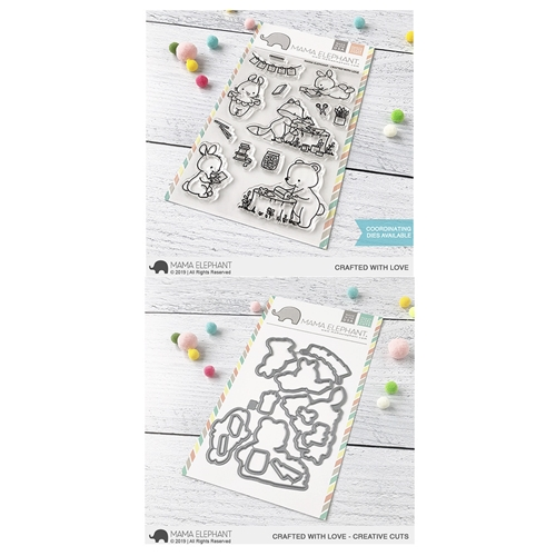 Mama Elephant Clear Stamp and Die MEPT702 Crafted with Love SET Preview Image