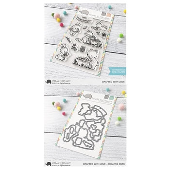 Mama Elephant Clear Stamp and Die MEPT702 Crafted with Love SET
