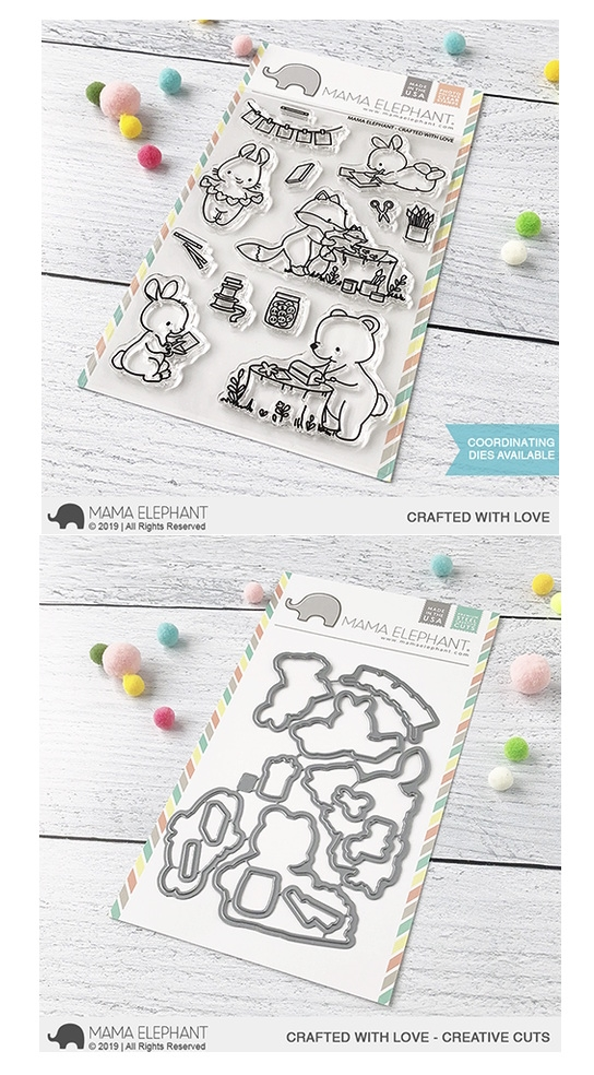 Mama Elephant Clear Stamp and Die MEPT702 Crafted with Love SET zoom image