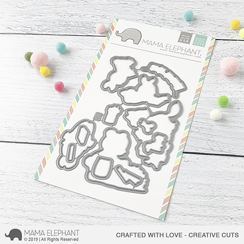 Mama Elephant CRAFTED WITH LOVE Creative Cuts Steel Dies Preview Image