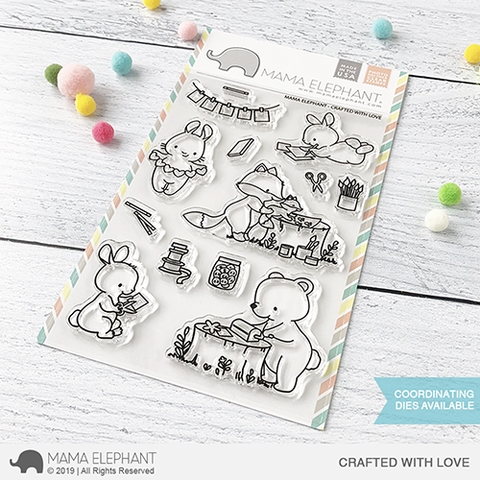 Mama Elephant Clear Stamps CRAFTED WITH LOVE Preview Image