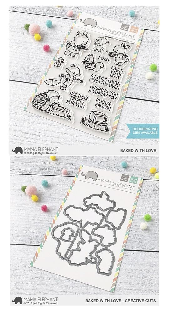 Mama Elephant Clear Stamp and Die MEPT699 Baked with Love SET zoom image
