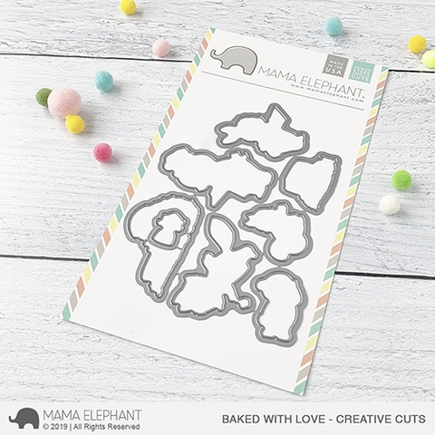 Mama Elephant BAKED WITH LOVE Creative Cuts Steel Dies Preview Image