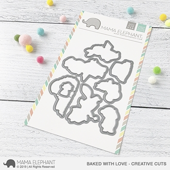 Mama Elephant BAKED WITH LOVE Creative Cuts Steel Dies