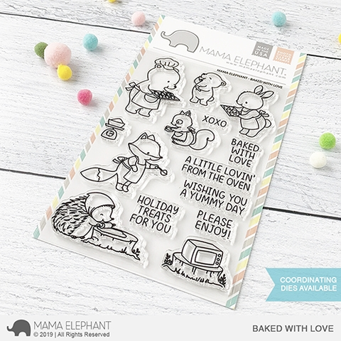 Mama Elephant Clear stamps BAKED WITH LOVE Preview Image