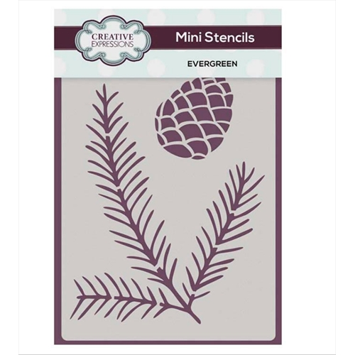 Creative Expressions EVERGREEN Mini Stencil cemsever Preview Image