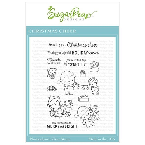 SugarPea Designs CHRISTMAS CHEER Clear Stamp Set spd-00403 Preview Image