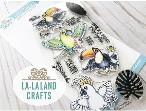 La-La Land Crafts Clear Stamps BIRDS OF A FEATHER CL042 zoom image