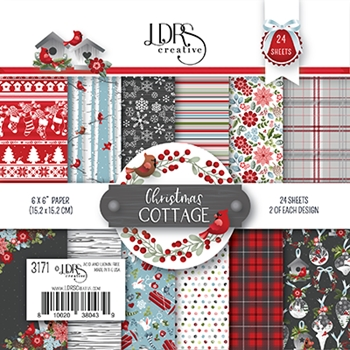 LDRS Creative CHRISTMAS COTTAGE 6 x 6 Paper Pack 3171