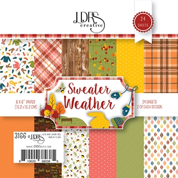 LDRS Creative SWEATER WEATHER 6 x 6 Paper Pack 3166