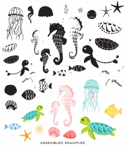 Papertrey Ink SALT AIR FAUNA Clear Stamps 3553 zoom image