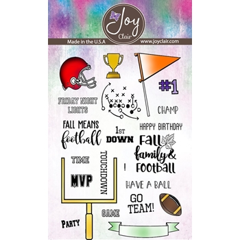 Joy Clair FALL FAMILY AND FOOTBALL Clear Stamp Set clr-02236