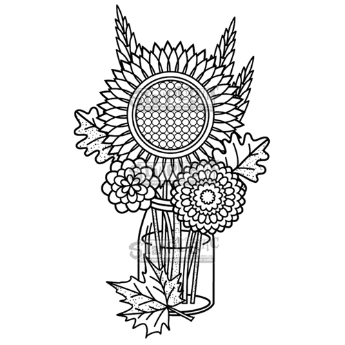 Stamplistic Cling Stamp FALL BOUQUET j191001 Preview Image