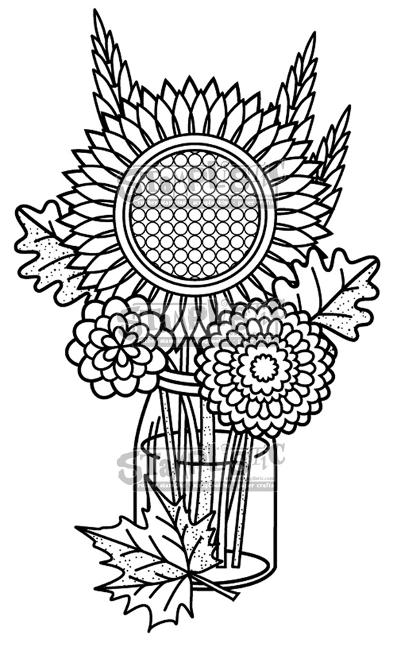 Stamplistic Cling Stamp FALL BOUQUET j191001 zoom image