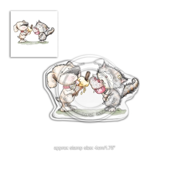 Polkadoodles HORACE AND BOO DELICIOUS DAY Clear Stamp pd7865