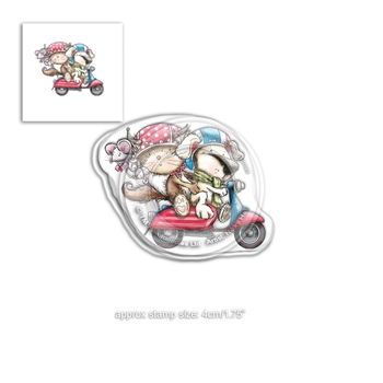 Polkadoodles HORACE AND BOO SCOOTING ALONG Clear Stamp pd7866