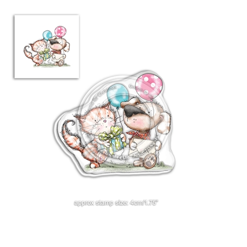 Polkadoodles HORACE AND BOO INVITATION Clear Stamp pd7867 Preview Image