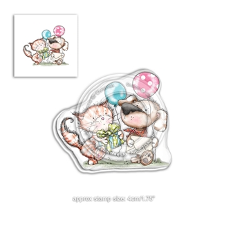 Polkadoodles HORACE AND BOO INVITATION Clear Stamp pd7867