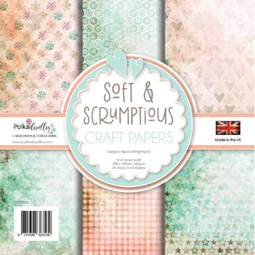 Polkadoodles Soft and Scrumptious 6x6 Paper Pack