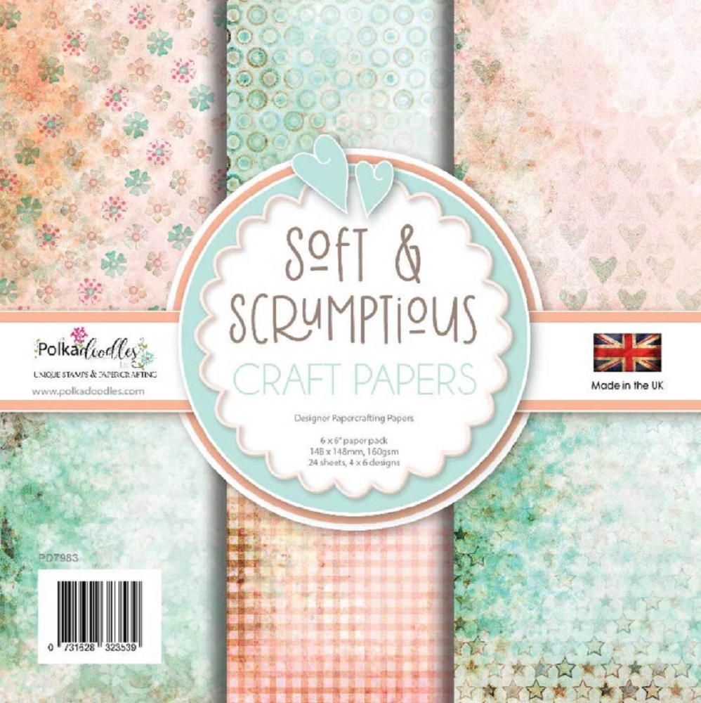 Polkadoodles SOFT AND SCRUMPTIOUS 6x6 Paper Pack pd7983 zoom image