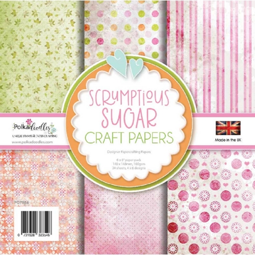 Polkadoodles SUGAR SCRUMPTIOUS 6x6 Paper Pack pd7984 Preview Image
