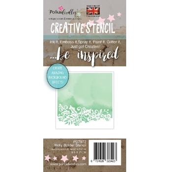 Polkadoodles HOLLY BORDER Stencil pd7972