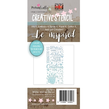 Polkadoodles WINTER WISHES Stencil pd7974