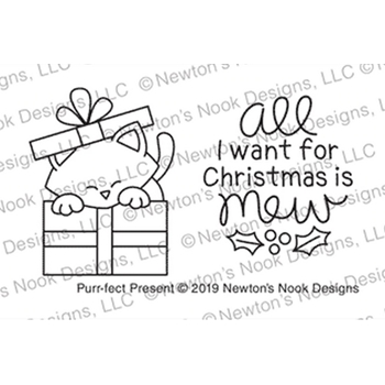 Newton's Nook Designs PURR-FECT PRESENT Clear Stamps NN1910S06