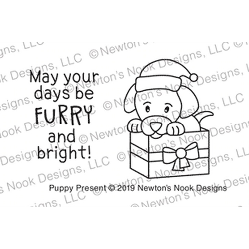 Newton's Nook Designs PUPPY PRESENT Clear Stamps NN1910S07 Preview Image