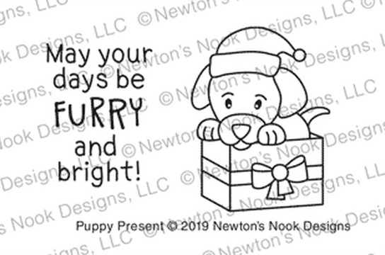 Newton's Nook Designs PUPPY PRESENT Clear Stamps NN1910S07 zoom image