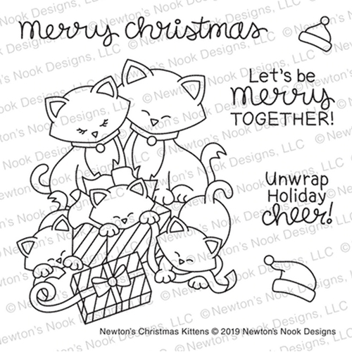 Newton's Nook Designs NEWTON'S CHRISTMAS KITTENS NN1910S04 Preview Image