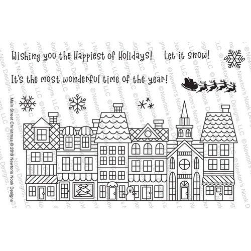 Newton's Nook Designs MAIN STREET CHRISTMAS Clear Stamps NN1910S03 Preview Image