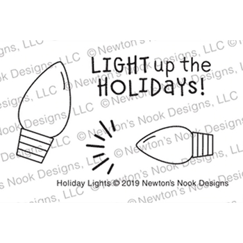 Newton's Nook Designs HOLIDAY LIGHTS Clear Stamps NN1910S05