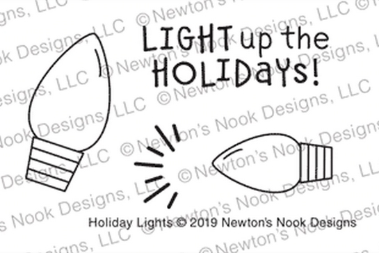 Newton's Nook Designs HOLIDAY LIGHTS Clear Stamps NN1910S05 zoom image