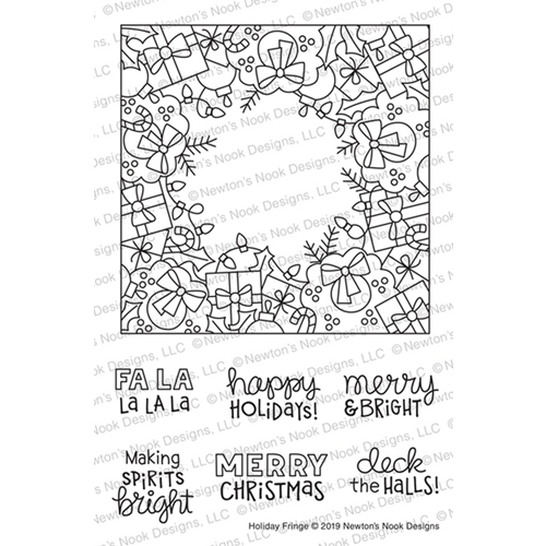 Newton's Nook Designs HOLIDAY FRINGE Clear Stamps NN1910S08 Preview Image