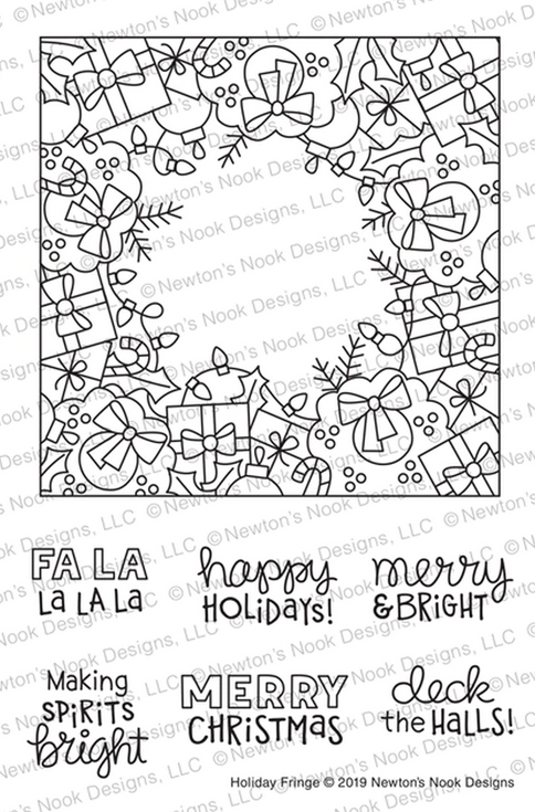 Newton's Nook Designs HOLIDAY FRINGE Clear Stamps NN1910S08 zoom image