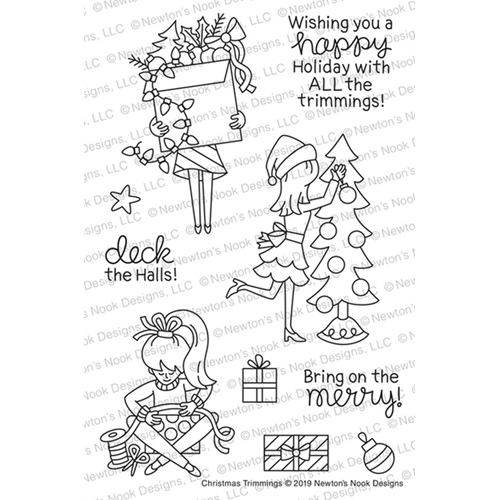 Newton's Nook Designs CHRISTMAS TRIMMINGS Clear Stamps NN1910S01* Preview Image
