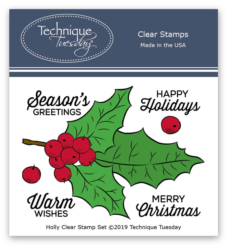 Technique Tuesday HOLLY Clear Stamps 02273 zoom image