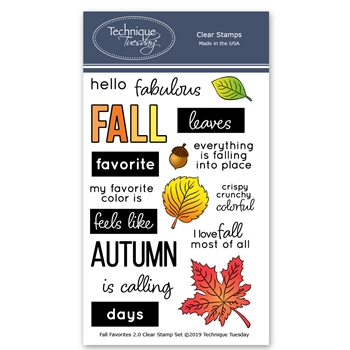Technique Tuesday FALL FAVORITES Clear Stamps 02565