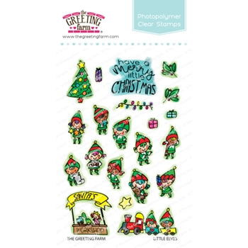 The Greeting Farm LITTLE ELVES Clear Stamps TGF512
