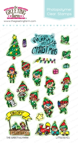 The Greeting Farm LITTLE ELVES Clear Stamps TGF512 zoom image