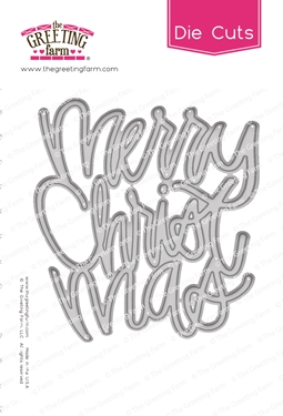 The Greeting Farm MERRY CHRISTMAS Word Die Cuts TGF515 Preview Image