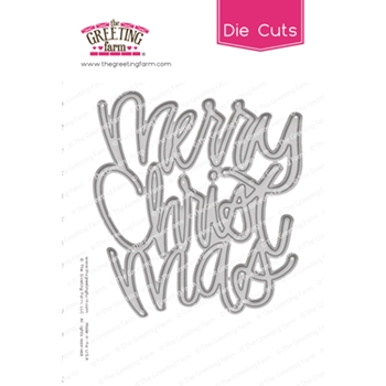 The Greeting Farm MERRY CHRISTMAS Word Die Cuts TGF515