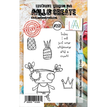 AALL & Create PINEAPPLE QUEEN Clear Stamp Set aal00259